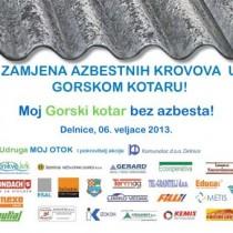 """Prezentacija akcije """"Zamjena azbestnih krovova i fasada"""" u Gorskom kotaru"""